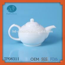Théière en porcelaine blanche 680 ml, pot de thé en céramique