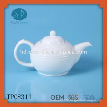 White porcelain teapot 680ml,ceramic tea pot