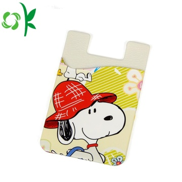 Snoopy Printed Silicone Cell Phone Πορτοφόλι με 3D