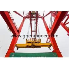 Épandeur de conteneurs semi-automatique et hydraulique