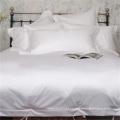 Coleção de Hotel 200T 100 Puro Algodão Branco Liso Bedding Set