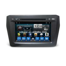 Factory Android 6.0 / 7.1 Doble Din Suzuki Nuevo Swift 2017 reproductor de DVD del coche Sistema de navegación GPS con MP3 BT Radio Reproductor de música