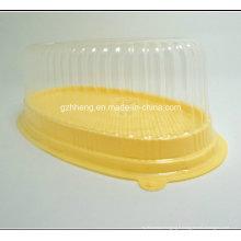 Boîte d'emballage en plastique de conception faite sur commande pour le gâteau / pain (emballage clair de gâteau)