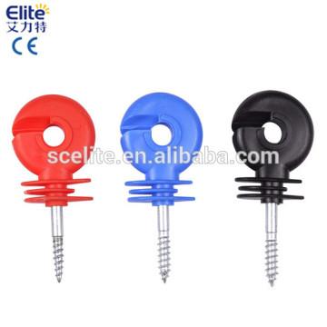 poste de madeira Isoladores de parafuso / isoladores de cerca elétrica