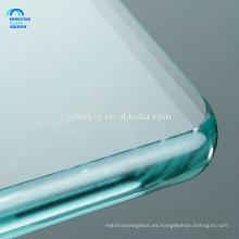 Paneles de vidrio templado de seguridad templado 15 mm para muebles con agujeros, mesa de vidrio