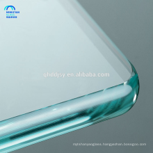 Tempered Safety toughened glass panels 15mm for furniture with holes , glass table