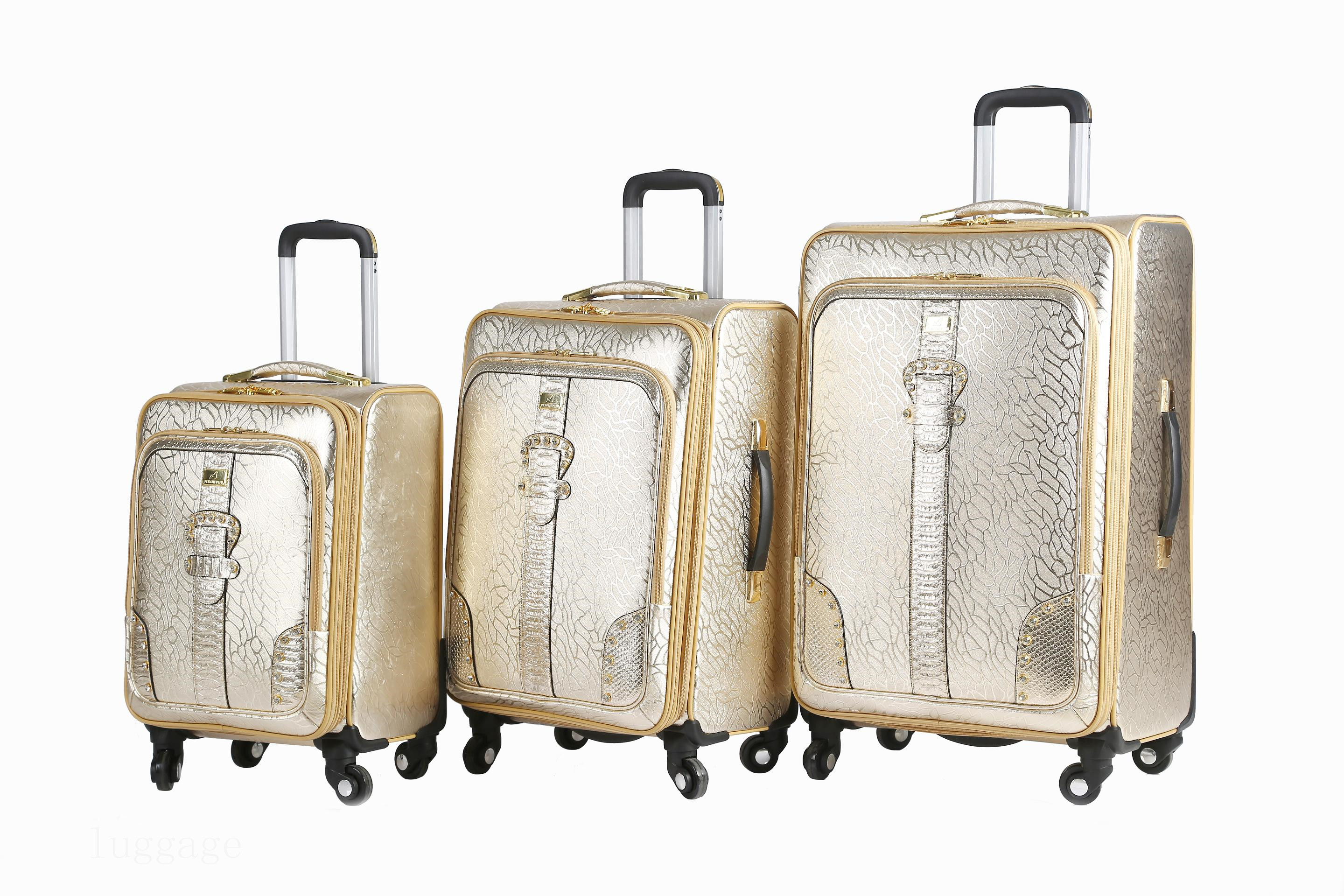 3171# PU luggage bags