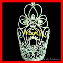 Novo design encantadora grande coroa de diamante rainha coroas