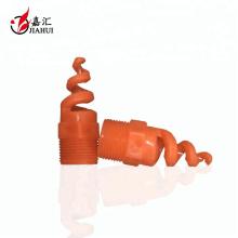 Boquilla espiral del pvc de la torre de enfriamiento de la limpieza del espray de agua de 120 grados