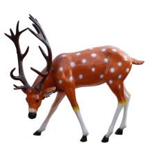 Colored fiberglass reindeer deer sculpture life size resin elk sculpture