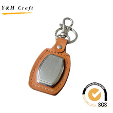 Кожаный брелок с пустой металлические для логотипа (Y02088)
