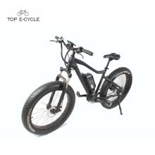 Paseo fácil con pedales gordos neumáticos montaña ebike caza bicicleta eléctrica