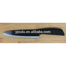7 inch black ceramic chef knife with soft handle
