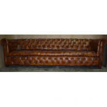 Echtes Leder Sofa Europäischer Stil