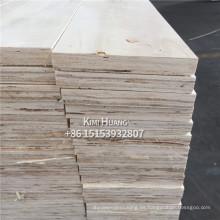 Chapa de madera laminada de madera contrachapada / LVL para muebles / marco de puerta LVL