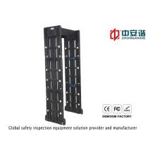 Alta precisão 24 zonas de detecção tela LCD detector de metais impermeável para estádios de esportes