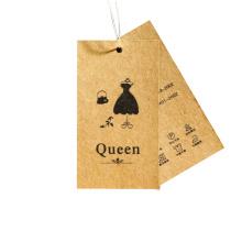 Cmyk Print Custom Kraft Paper Hangtag Labels for Clothing