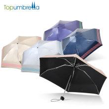 Différents types de matériau de tissu imperméable à l'eau pas cher 5 pli parapluie