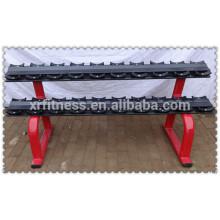 Вес подъема скамья коммерческих спортзал оборудование стойку для гантелей (10 пар)