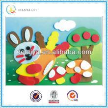 DIY cartoon EVA puzzle for rabbit