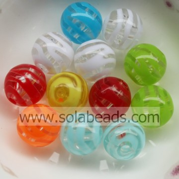 Xmas 12mm Colors Round Ball Tiny beads