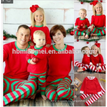 2017 0EM servicio de prendas de vestir unisex conjuntos conjuntos impresos familia de pijamas de navidad
