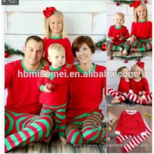 2017 0EM serviço de malha conjuntos de roupas unisex completa impresso pajamas de natal da família