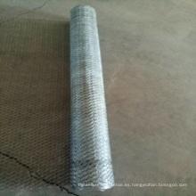Malla de alambre hexagonal galvanizada revestida de 1/2 pulgada del PVC / malla de alambre del pollo