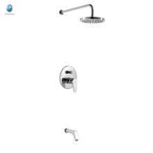KI-05 de haute qualité réglable pluie en laiton massif dissimulé mitigeur de douche, mitigeur avec mitigeur de douche encastré inverseur