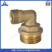 Macho hilo latón codo prensa ajuste (yd-6026)