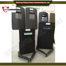 Segurança e proteção Escudo anti-motim portátil com rodas