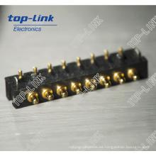 Conector de clavija Pogo con muelle de latón (conector de batería, 8 pines)