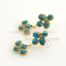Натуральный бирюзовый камень ювелирные изделия стерлингового серебра доступны в лучшей цене