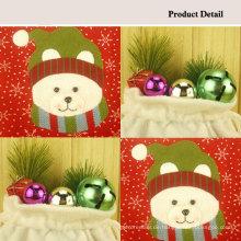 Heißer Verkauf Bär Christmas Bag Candy Kordelzug