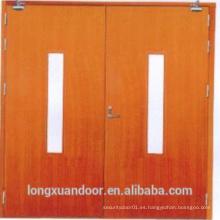 BS Estándar de madera sólida de madera de fuego Puerta de fuego, puertas de fuego a ras