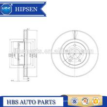 OEM ATE 424145 de rotor de disque de frein d'essieu avant de 277mm pour SUBARU