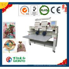 Wonyo 2 Head Stickmaschine Preis für Flat Cap T-Shirt Kleidungsstück Stickerei