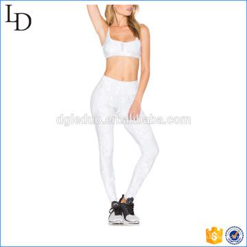 Gym ajustável das mulheres das correias de ombro que legging o desgaste da aptidão da ioga
