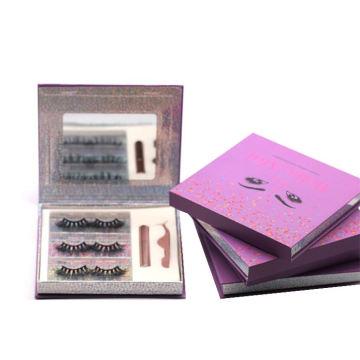 F178H Hitomi Handmade 3d Mink Eyelashes soft natural mink eyelashes Fluffy 25mm Magnetic Eyelashes with Eyeliner and tweezers