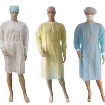 Robes d'isolement jetables imperméables médicales