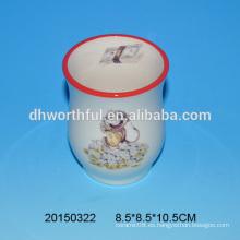 Florero de cerámica barato al por mayor con el modelo del mono