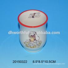 Оптовая дешевая керамическая ваза для цветов с рисунком обезьяны