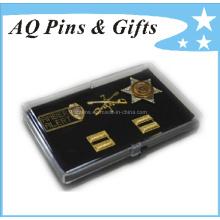Caja plástica de la moneda con diverso Pin