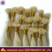 Cheveux humains pré-attachés de cheveux de qualité supérieure de Remy de cheveux de qualité supérieure