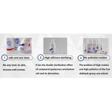 Frasco spray portátil com álcool desinfetante para as mãos