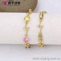 73700 Alibaba alta qualidade folha forma projetada pulseira de ouro 14k jóias atacado
