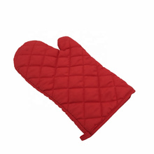 China manufactory oven mitts cooking microware glove cheap heat resistant cotton kitchen cooking black oven mitts