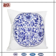 Chinês bordado clássico microfiber assento liso almofada