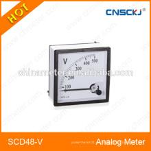 Medidor analógico del panel del voltímetro de SCD48-V 48 * 48m m con el mejor precio