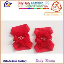 Vente en gros bébé coloré pieds nus chaussures de bébé ornements